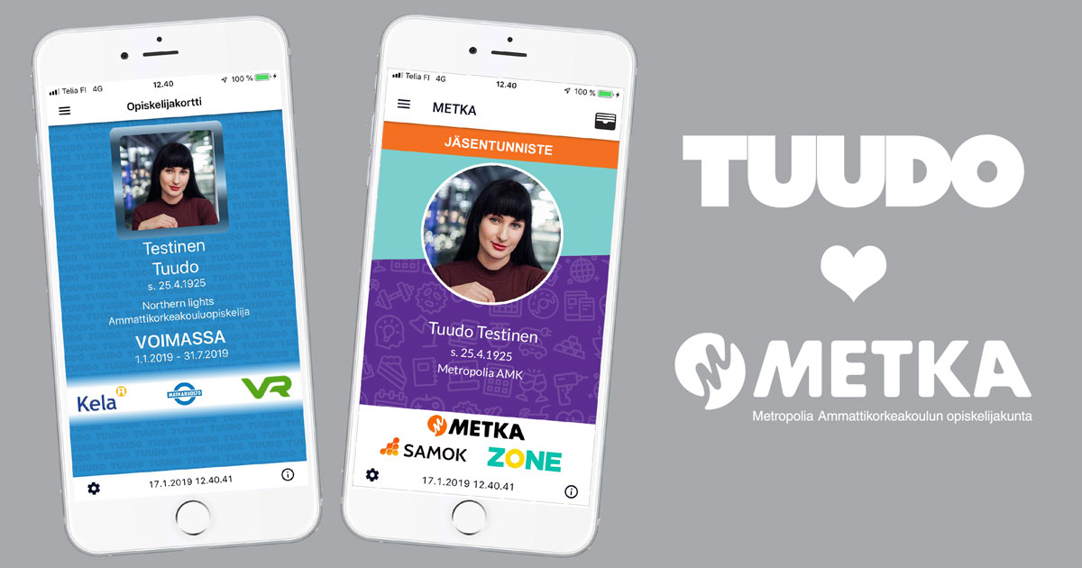 Digitaalinen opiskelijakortti osaksi Tuudo-sovellusta – valtakunnalliset opiskelijaedut vapautuvat kaikille Metropolian opiskelijoille