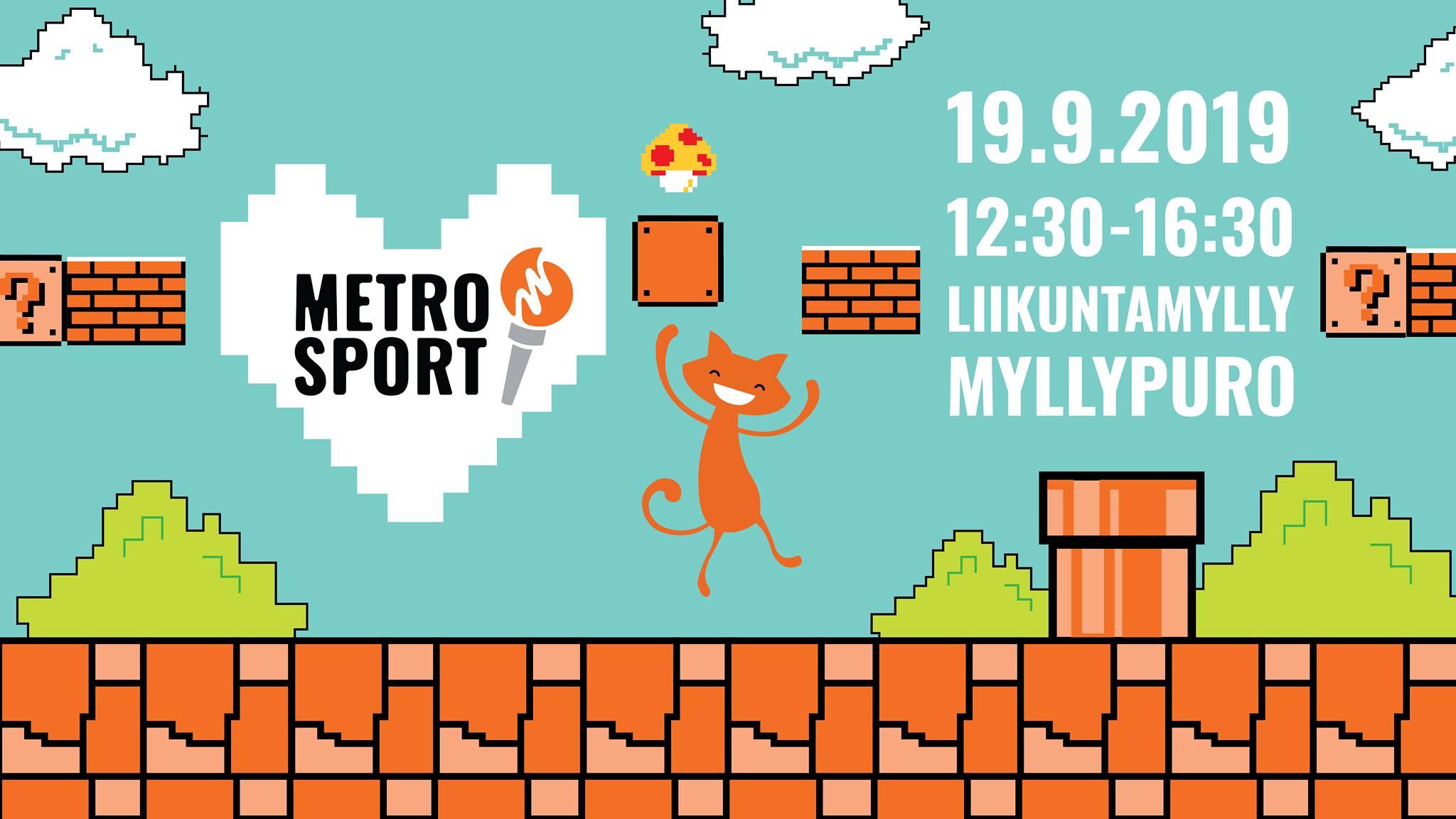 Mainosbanneri: MetroSport Liikuntamyllyssä 19.9.2019! / Banner ad: MetroSport at Liikuntamylly on 19,9,2019!