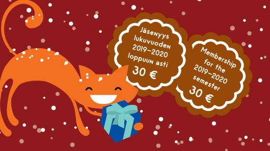 Jäsenyys lukuvuoden 2019-2020 loppuun asti 30 €